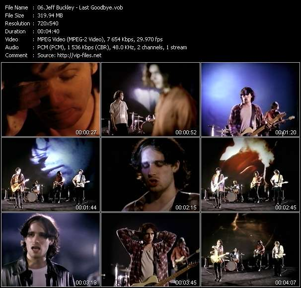 Screenshot of Music Video Jeff Buckley - Last Goodbye
