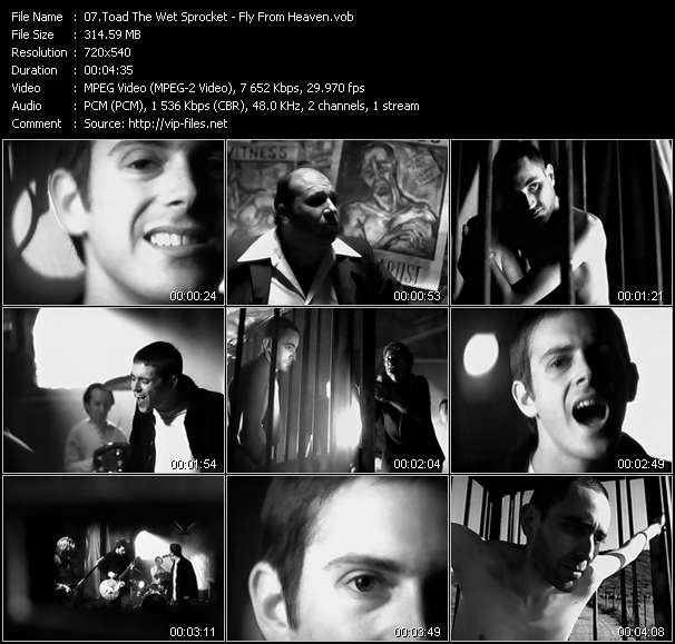 Screenshot of Music Video Toad The Wet Sprocket - Fly From Heaven
