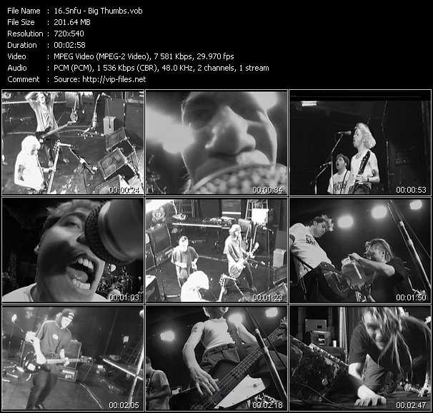 Screenshot of Music Video Snfu - Big Thumbs