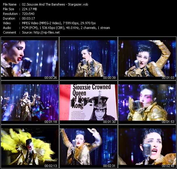 Screenshot of Music Video Siouxsie And The Banshees - Stargazer