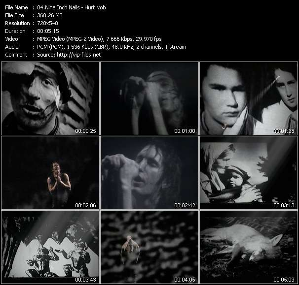 Screenshot of Music Video Nine Inch Nails - Hurt