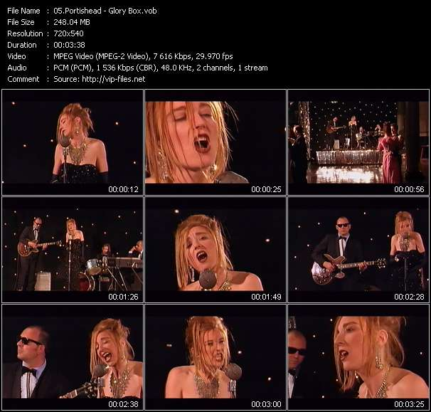 Screenshot of Music Video Portishead - Glory Box