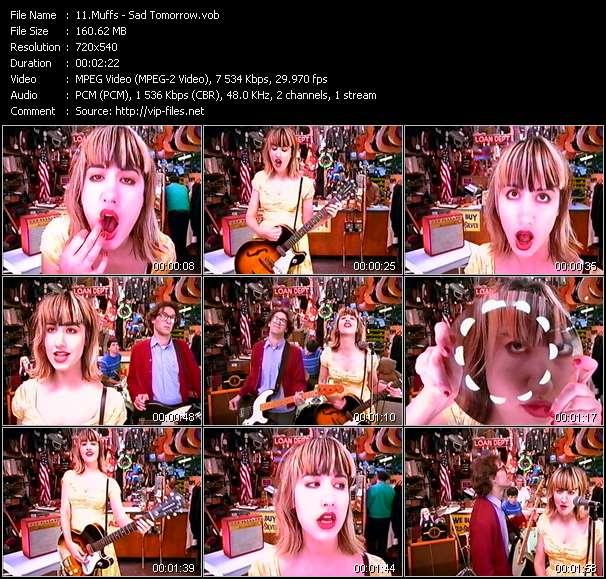 Screenshot of Music Video Muffs - Sad Tomorrow