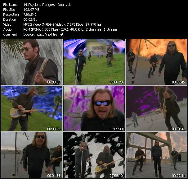 Screenshot of Music Video Psyclone Rangers - Deal