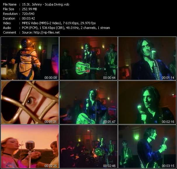 Screenshot of Music Video St. Johnny - Scuba Diving