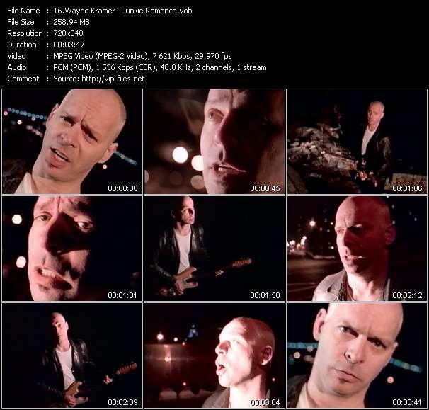 Screenshot of Music Video Wayne Kramer - Junkie Romance