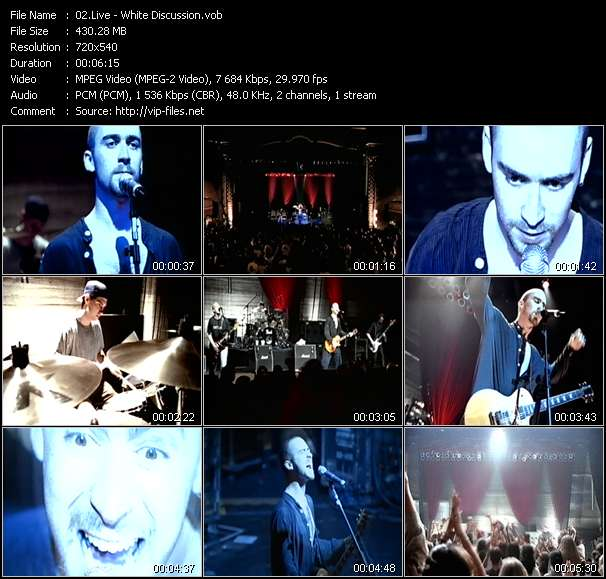 Screenshot of Music Video Live - White Discussion