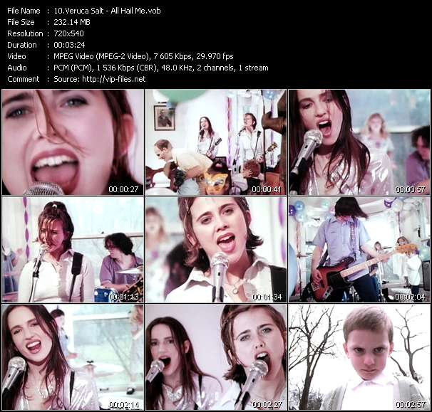 Screenshot of Music Video Veruca Salt - All Hail Me