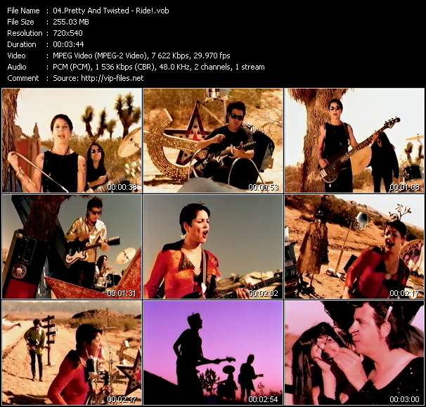 Screenshot of Music Video Pretty And Twisted - Ride!