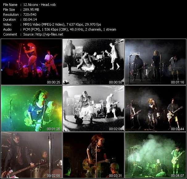 Screenshot of Music Video Nixons - Head