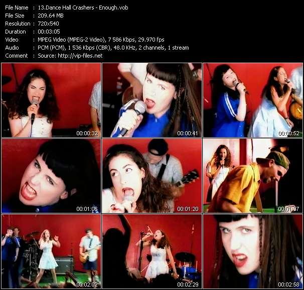 Screenshot of Music Video Dance Hall Crashers - Enough