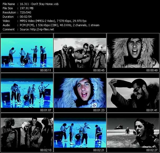 Screenshot of Music Video 311 - Don't Stay Home