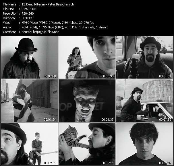 Screenshot of Music Video Dead Milkmen - Peter Bazooka