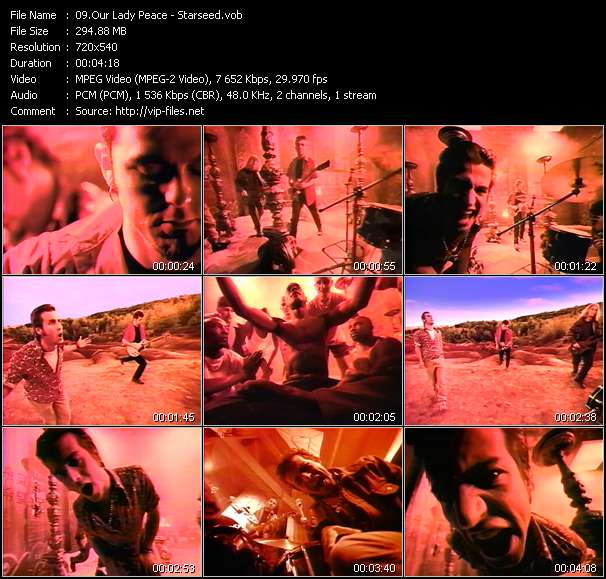 Our Lady Peace video vob