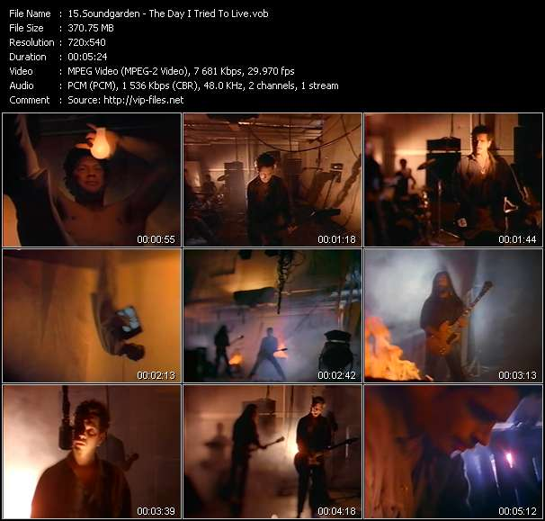 Soundgarden video vob