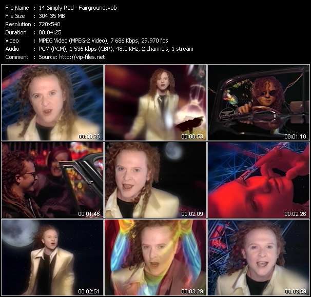 Screenshot of Music Video Simply Red - Fairground