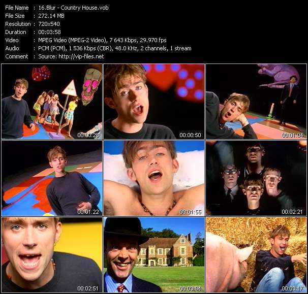 Screenshot of Music Video Blur - Country House