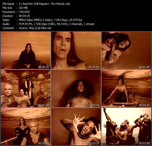 Screenshot of Music Video Red Hot Chili Peppers - My Friends