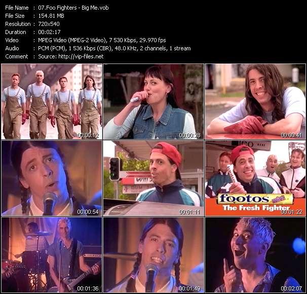 Screenshot of Music Video Foo Fighters - Big Me