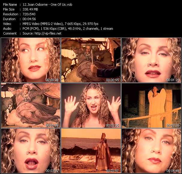 Screenshot of Music Video Joan Osborne - One Of Us