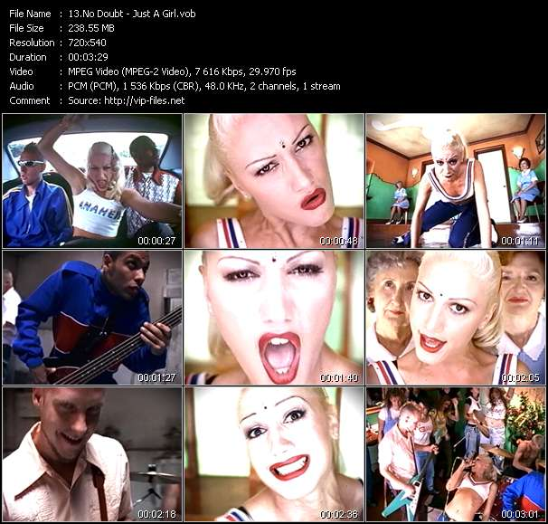 Screenshot of Music Video No Doubt - Just A Girl