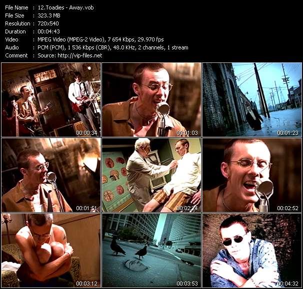Screenshot of Music Video Toadies - Away