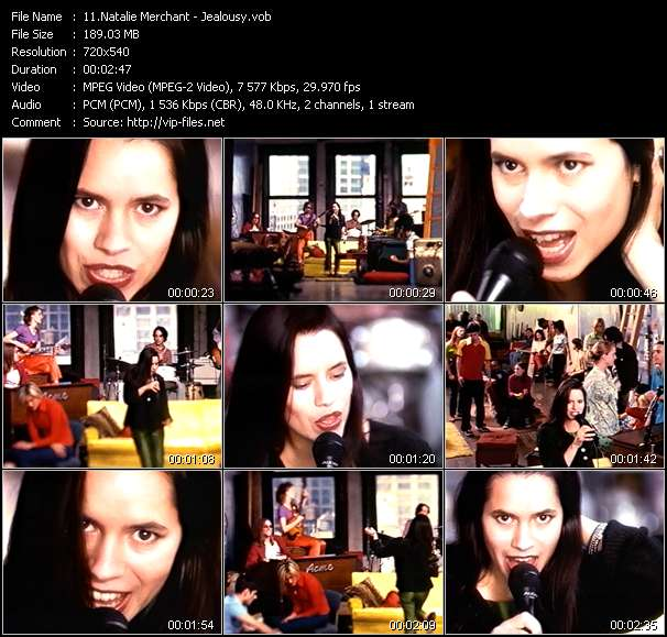 Screenshot of Music Video Natalie Merchant - Jealousy