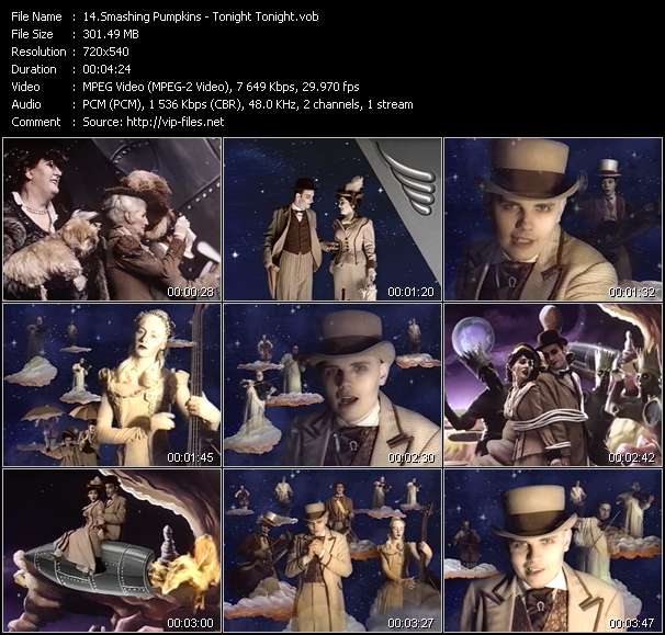 Screenshot of Music Video Smashing Pumpkins - Tonight Tonight