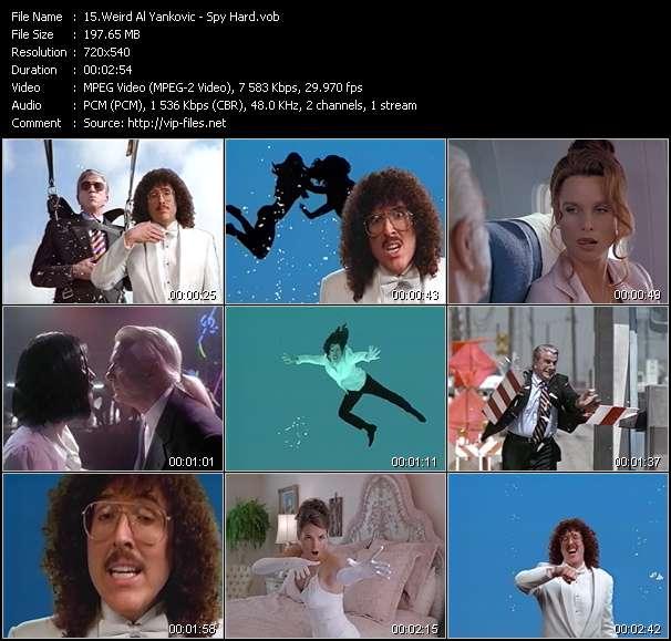 Screenshot of Music Video Weird Al Yankovic - Spy Hard