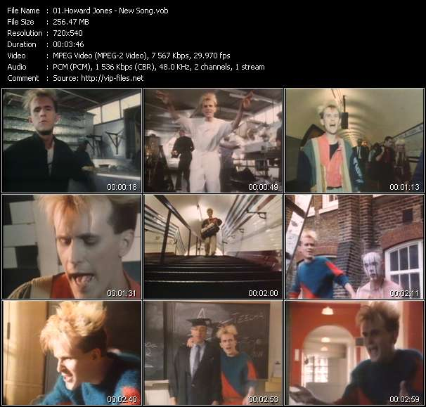 Screenshot of Music Video Howard Jones - New Song