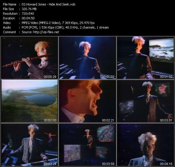 Screenshot of Music Video Howard Jones - Hide And Seek