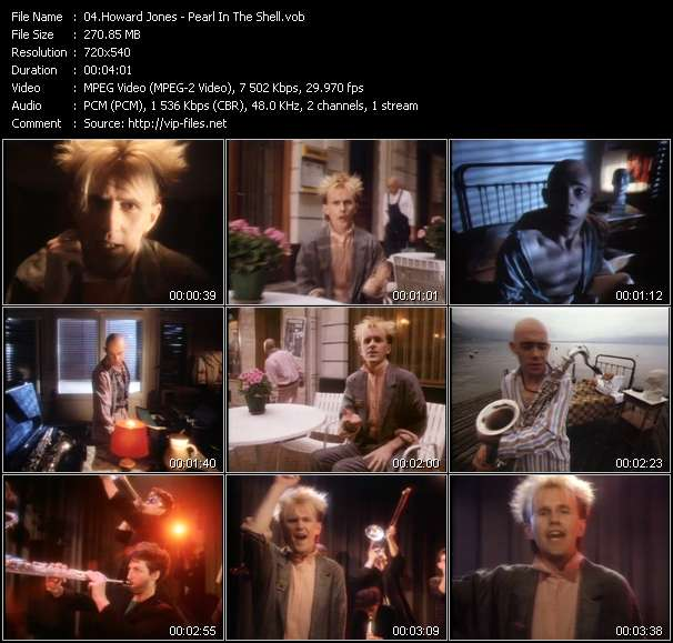 Screenshot of Music Video Howard Jones - Pearl In The Shell