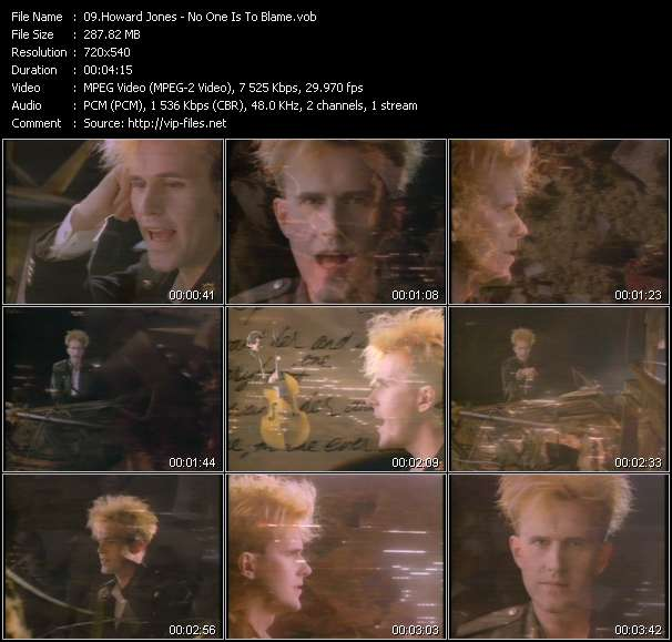 Screenshot of Music Video Howard Jones - No One Is To Blame