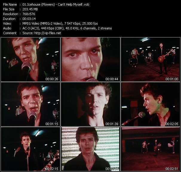 Screenshot of Music Video Icehouse (Flowers) - Can't Help Myself