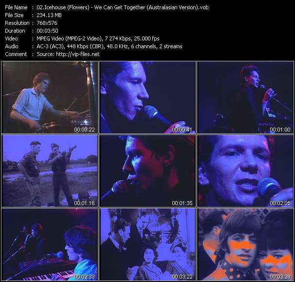Screenshot of Music Video Icehouse (Flowers) - We Can Get Together (Australasian Version)