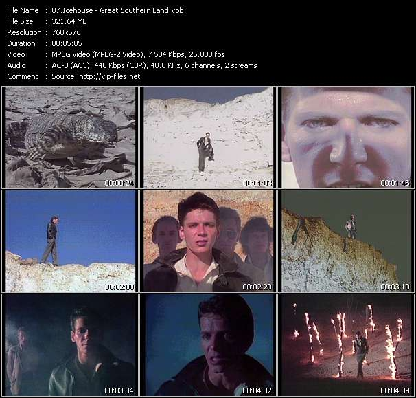 Screenshot of Music Video Icehouse - Great Southern Land
