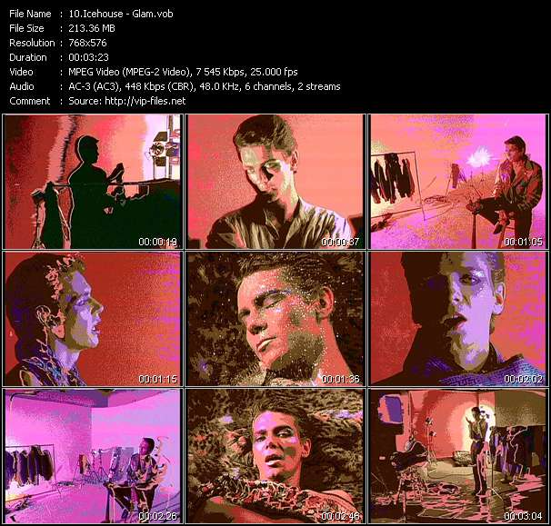 Screenshot of Music Video Icehouse - Glam