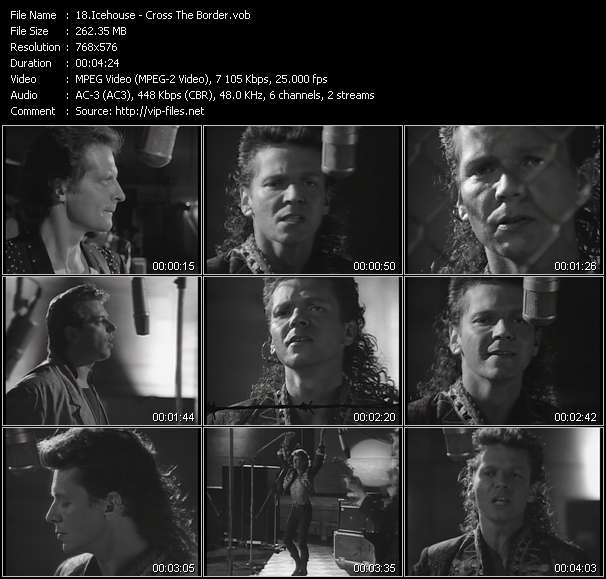 Screenshot of Music Video Icehouse - Cross The Border
