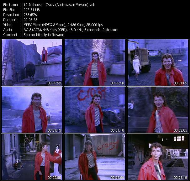 Screenshot of Music Video Icehouse - Crazy (Australasian Version)