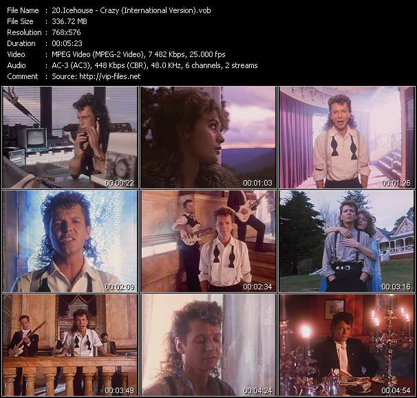 Screenshot of Music Video Icehouse - Crazy (International Version)