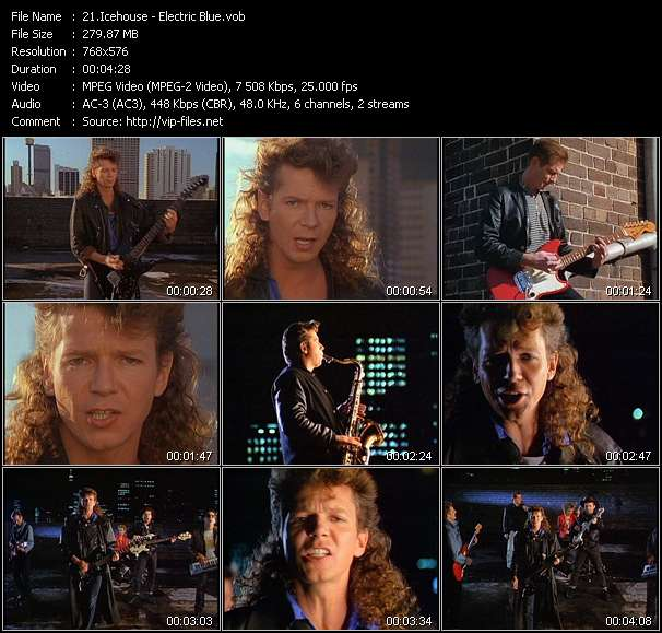 Screenshot of Music Video Icehouse - Electric Blue