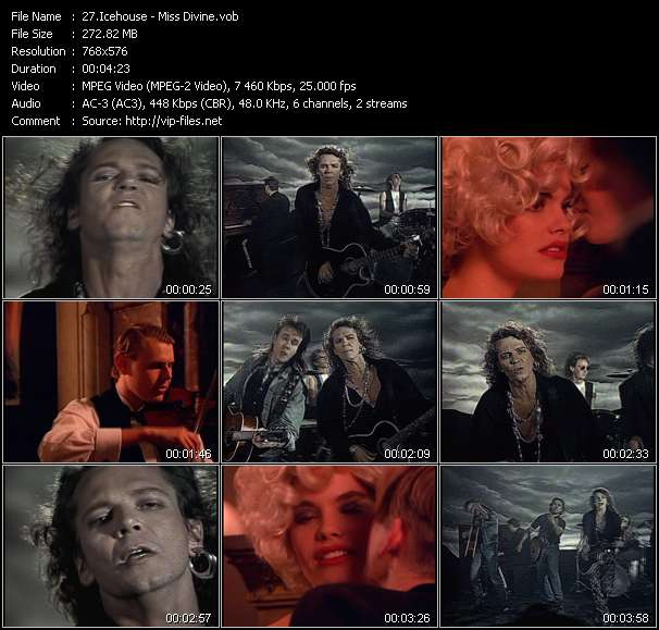 Screenshot of Music Video Icehouse - Miss Divine