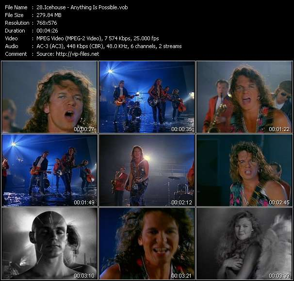 Screenshot of Music Video Icehouse - Anything Is Possible