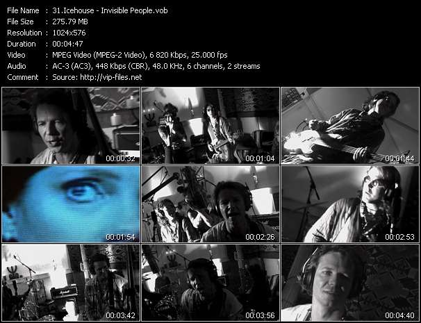 Screenshot of Music Video Icehouse - Invisible People