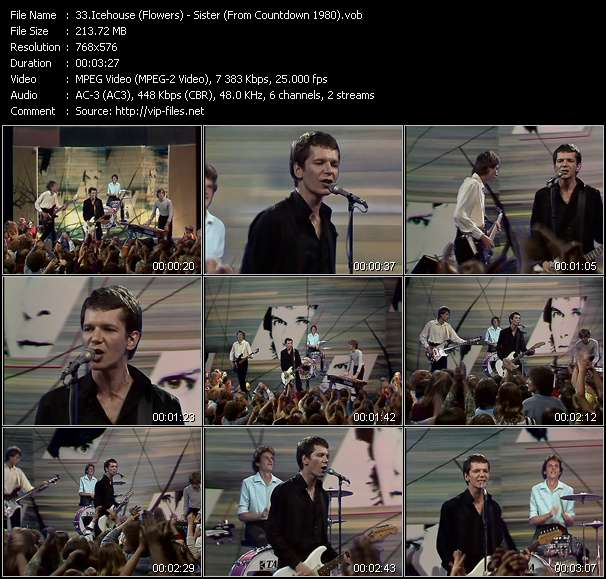 Screenshot of Music Video Icehouse (Flowers) - Sister (From Countdown 1980)