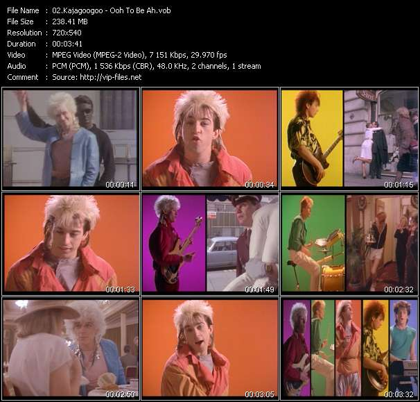 Screenshot of Music Video Kajagoogoo - Ooh To Be Ah