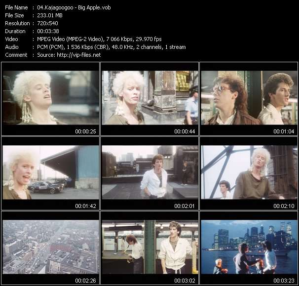 Screenshot of Music Video Kajagoogoo - Big Apple