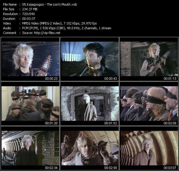 Screenshot of Music Video Kajagoogoo - The Lion's Mouth