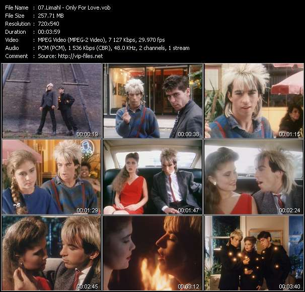 Screenshot of Music Video Limahl - Only For Love