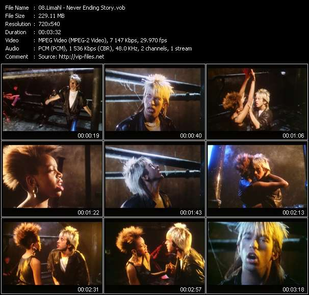 Screenshot of Music Video Limahl - Never Ending Story